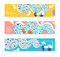 Stock Image : Set of horizontal banners, headers. Editable design template