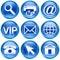 Stock Image : Set icon blue #02.