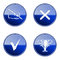 Stock Image : Set icon blue glossy #23.