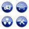 Stock Image : Set icon blue glossy #20.