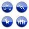 Stock Image : Set icon blue glossy #17.