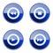 Stock Image : Set icon blue glossy #24.