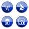 Stock Image : Set icon blue glossy #28.