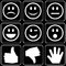 Stock Image : Set of icons (hands, smiles)