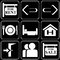 Stock Image : Set of icons (travel, rest)