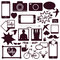 Stock Image : Set of modern media communication and hipster elements