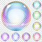 Stock Image : Set of multicolored soap bubbles