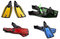 Stock Image : Set of multicolored swim fins, masks and snorkel