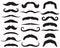 Stock Image : Set of mustache