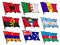 Stock Image : Set of national flags