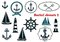 Stock Image : Set of nautical heraldry themed elements