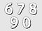 Stock Image : 67890 set of numbers with a bloated design
