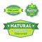 Stock Image : Set of organic-bio labels