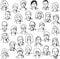 Stock Image : Set portrait business people