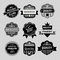 Stock Image : Set of premium & quality labels, emblems and stamp