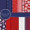 Stock Image : Set of red and blue paper for scrapbook