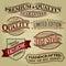 Stock Image : Set of Retro Seals, Labels and Calligraphic Design