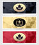 Stock Image : Set Royal triangle banners  black red gold