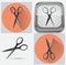 Stock Image : Set of scissor