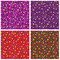 Stock Image : Set of seamless patterns of small elements of different colors.