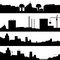 Stock Image : Set of silhouettes town.