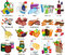Stock Image : Set of sixty four supermarket  icons