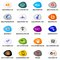 Stock Image : Set of social media networking icons