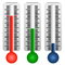 Stock Image : Set of three thermometers