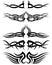 Stock Image : Set tribal tattoos