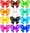 Stock Image : Set of twelve festive bows