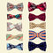 Stock Image : Set of vector bow-ties