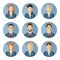 Stock Image : Set of vector business characters in flat design.