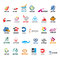 Stock Image : Set of vector logos arrow