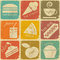 Stock Image : Set of vintage food labels