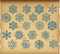 Stock Image : The set of  vintage snowflakes on vintage background