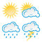 Stock Image : Set of Weather icons