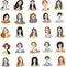 Stock Image : Set woman face icon