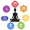 Stock Image : Seven chakras