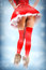 Stock Image : Sexy christmas card - legs in stockings