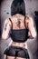Stock Image : Sexy Grunge Tattoo Girl