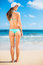 Stock Image : Sexy woman in small bikini on the beach