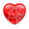 Stock Image : Shiny red heart with decor