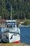 Stock Image : Ship at Teletskoye lake