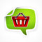 Stock Image : Shopping basket sticker
