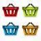 Stock Image : Shopping colour baskets