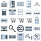 Stock Image : Shopping vector icons
