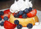 Stock Image : Shortcake With Strawberries, Blueberries and Whipped Cream