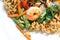 Stock Image : Shrimp with noodles
