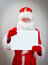 Stock Image : Shy Santa Claus.