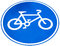 Stock Image : Sign of a bike or bicycle lane, isolate on white background